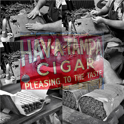 Mixed Media - Cigar Rolling Tampa by David Lee Thompson