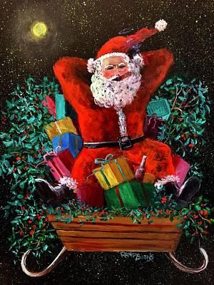 Painting - Cigar Santa by Randy Burns