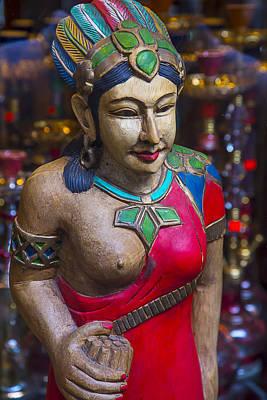Indian Princess Photograph - Cigar Store Indian Princess by Garry Gay