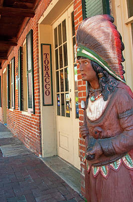 Photograph - Cigar Store Indian by Steve Stuller