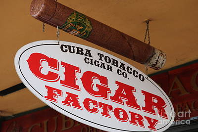 Photograph - Cigar Store Sign by Carol Groenen