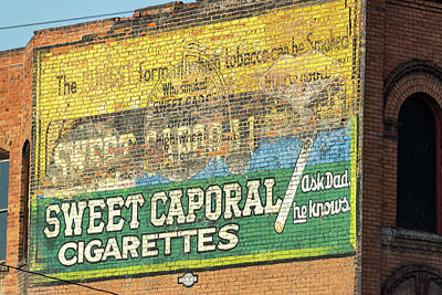 Sweet Caporal Cigarettes Photograph - Cigarette Advertisement by Jess Kraft
