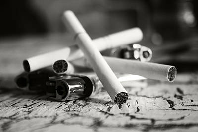 Photograph - Cigarette And Lighters by Adam LeCroy