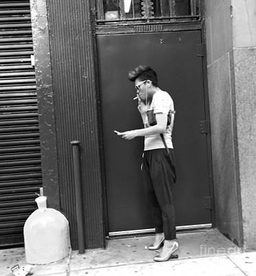 Photograph - Cigarette Break - Smoker by Miriam Danar