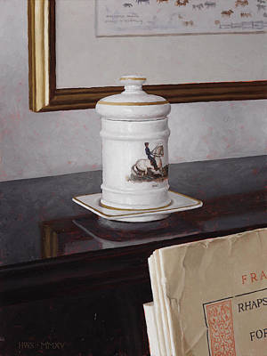 Painting - Cigarette Jar by Harry Steen