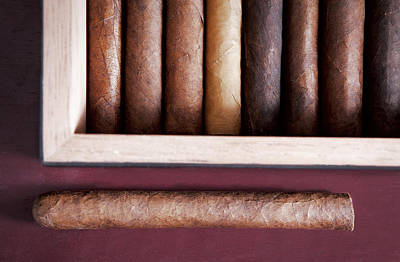 Photograph - Cigars And Humidors. by Andrey  Godyaykin