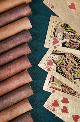 Photograph - Cigars And Playing Cards  by Andrey  Godyaykin