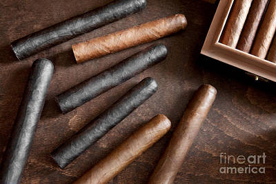 Photograph - Cigars On An Old Table. by Andrey  Godyaykin
