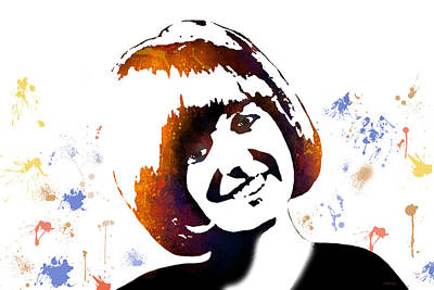 Digital Art - Cilla Black by Marlene Watson