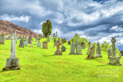 Photograph - Cille Choirill Cemetery by Benny Marty