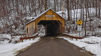 Photograph - Cilley Covered Bridge by Scenic Vermont Photography