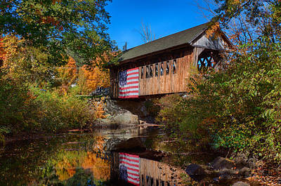 Photograph - Cilleyville Bog Bridge In Autumn by Jeff Folger