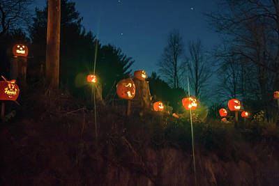 Photograph - Cillyhill Pumpkin Glowing Against The Stars by Jeff Folger