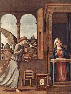 Cima Da Conegliano The Annunciation Art Print