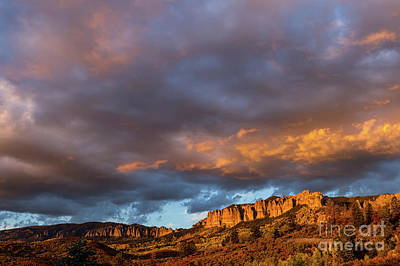 Photograph - Cimarron Ridge Sunset In Co by Tibor Vari