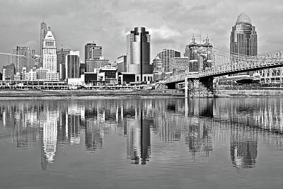 Photograph - Cinci In Black And White 2015 by Frozen in Time Fine Art Photography