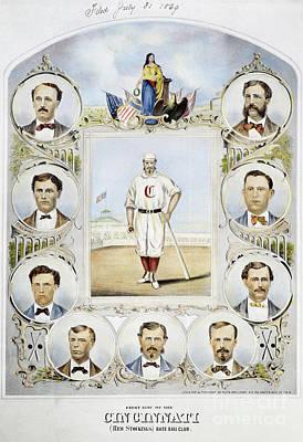 Photograph - Cincinnati Baseball Team, 1869 by Granger