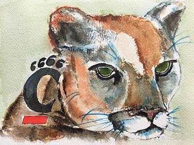 Painting - Cincinnati Bearcats by Elaine Duras