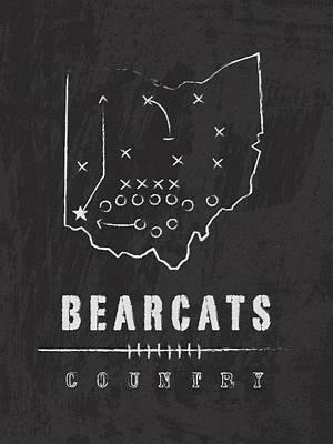Cincinnati Bearcats / Ncaa College Football Art / Ohio Art Print by Damon Gray