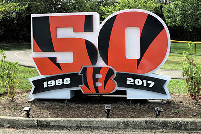 Photograph - Cincinnati Bengals - 50th Anniversary by Phyllis Taylor