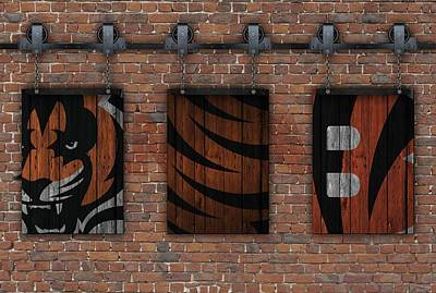 Photograph - Cincinnati Bengals Brick Wall by Joe Hamilton
