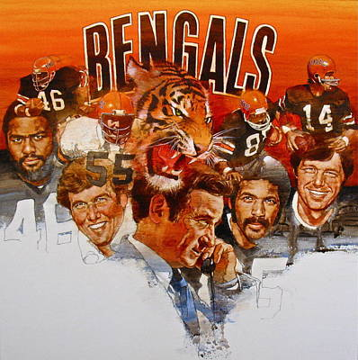 Cincinnati Bengals Art Print by Cliff Spohn