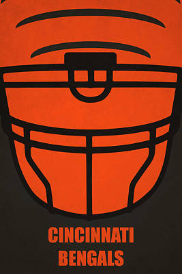 Football Painting - Cincinnati Bengals Helmet Art by Joe Hamilton