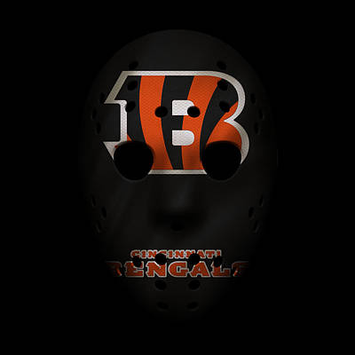 Football Photograph - Cincinnati Bengals War Mask 2 by Joe Hamilton