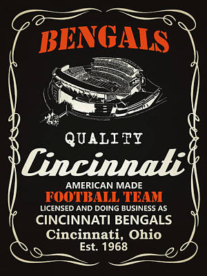 Painting - Cincinnati Bengals Whiskey by Joe Hamilton