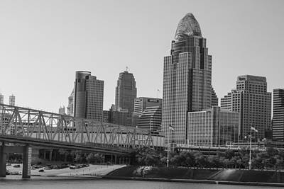 Photograph - Cincinnati Black And White 1 by John McGraw