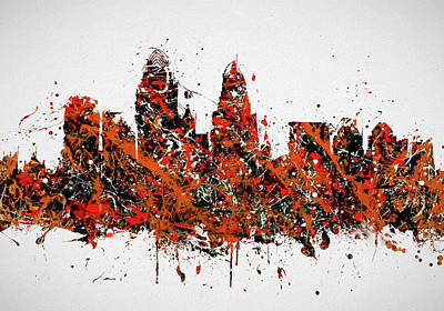 Painting - Cincinnati Colorful Skyline by Dan Sproul