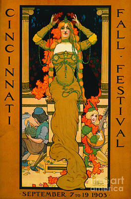 Cincinnati Fall Festival 1903 Art Print