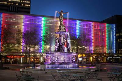 Photograph - Cincinnati Fountain Square by Scott Meyer