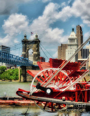 Steamboat Photograph - Cincinnati Landmarks 1 by Mel Steinhauer