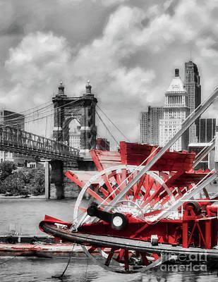 Photograph - Cincinnati Landmarks 1 Selective Color by Mel Steinhauer