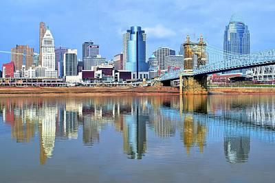 Covington Photograph - Cincinnati Ohio Times Two by Frozen in Time Fine Art Photography