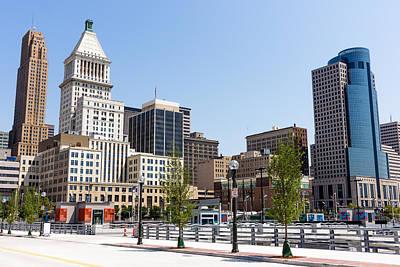 Cincinnati Ohio Downtown City Buildings Print by Paul Velgos