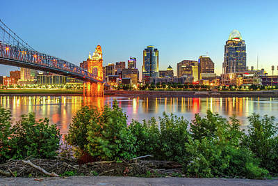 Photograph - Cincinnati Ohio Downtown Skyline - City In Color by Gregory Ballos