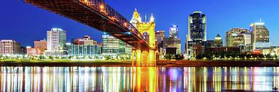 Photograph - Cincinnati Ohio Panoramic Skyline Reflections by Gregory Ballos