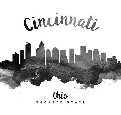 Cincinnati Ohio Painting - Cincinnati Ohio Skyline 18 by Aged Pixel