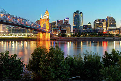 Photograph - Cincinnati Ohio Skyline At Dawn by Gregory Ballos