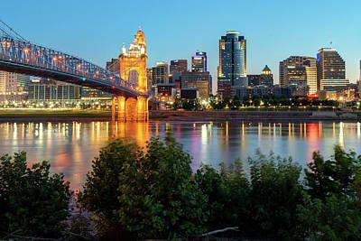 Photograph - Cincinnati Ohio Skyline At Dawn by Gregory Ballos