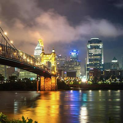 Photograph - Cincinnati Ohio Skyline In Color 1x1 by Gregory Ballos