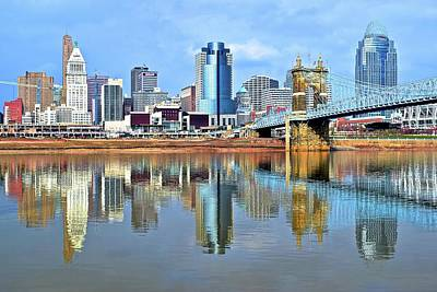 Photograph - Cincinnati Ohio Times Two by Frozen in Time Fine Art Photography