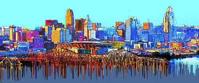 Cincinnati, Ohio, Usa Art Print by Edelberto Cabrera