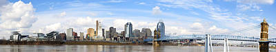 Cincinnati Panorama Art Print by Keith Allen
