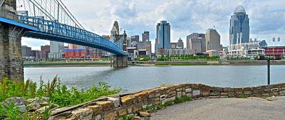 Photograph - Cincinnati Panoramic City View by Frozen in Time Fine Art Photography