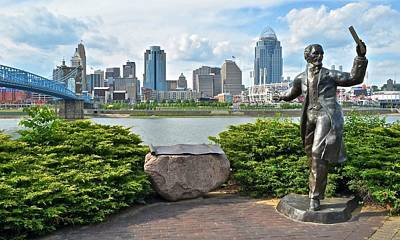 Photograph - Cincinnati Panoramic From Covington by Frozen in Time Fine Art Photography