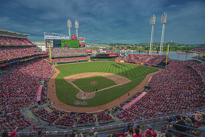 Photograph - Cincinnati Reds Great America Ballpark Creative 2 by David Haskett II