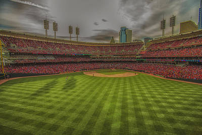 Photograph - Cincinnati Reds Great America Ballpark Creative Edit  by David Haskett II
